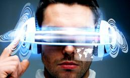 virtual reality glasses VR glasses headset man