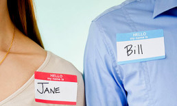 his and hers name tags
