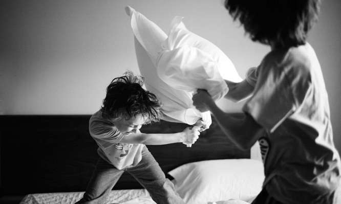 have more fun pillow fight - crazy fun