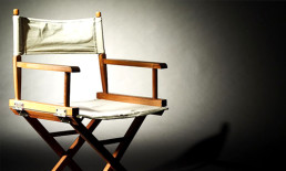 director's chair in spotlight