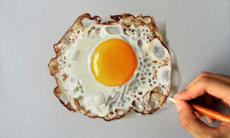 hand-drawn 3D fried egg - Sushant Rane