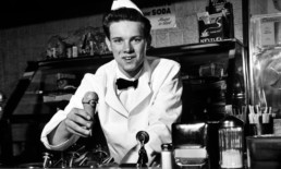 The Best Advice So Far: the good old days - old-fashioned soda jerk offering chocolate ice cream cone