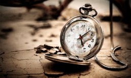 the umpteenth time - The Best Advice So Far - broken pocket watch on cracked earth