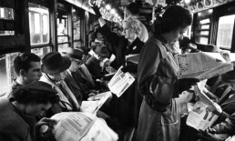The Best Advice So Far: walls — 1950s subway riders crowded and ignoring one another