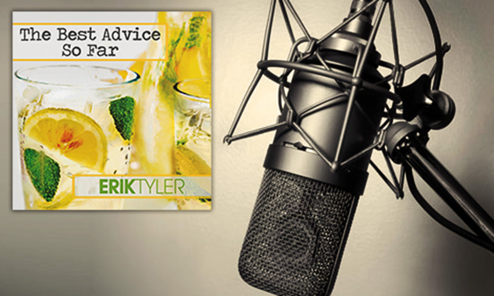 The Best Advice So Far: Making the Cut (Negativity) - picture of studio microphone with audiobook cover