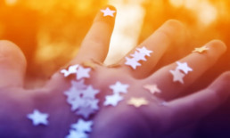 The Best Advice So Far - 'tis a gift - open hand showing silver stars