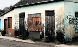 The Best Advice So Far - choice: the wall - dilapidated building inland Bahamas