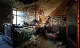 The Best Advice So Far - dwelling - dilapidated bedroom in what appears to have been an old, wealthy home
