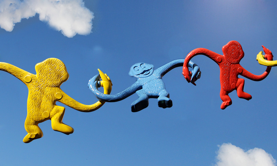 if i can do it today - The Best Advice So Far - Barrel of Monkeys monkeys forming a chain across a blue sky