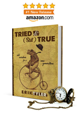TRIED & (Still) TRUE book cover with antique pocket watch; Amazon.com logo above and #1 New Release Badge