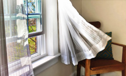 The Best Advice So Far - it's a breeze - curtain fluttering at an open window